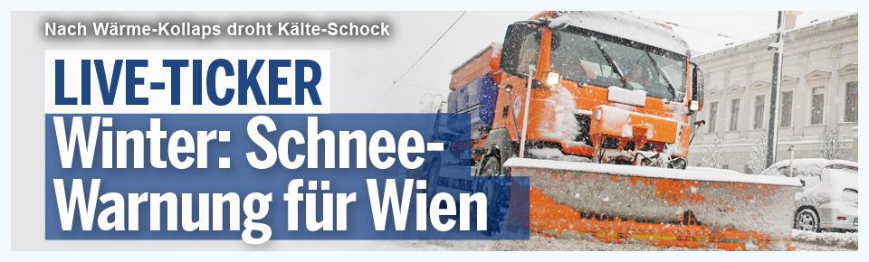LIVE-Ticker: Schnee-Warnung für Wien