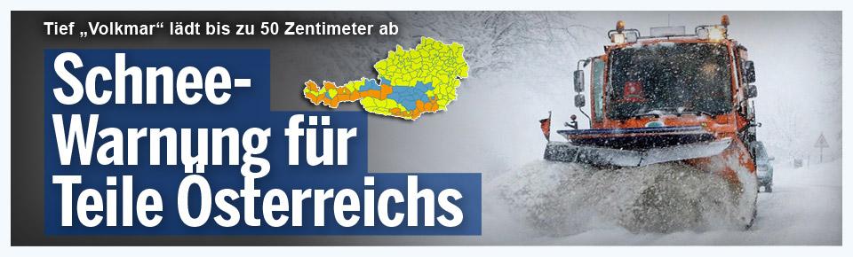 Schnee-Warnung für Teile Österreichs