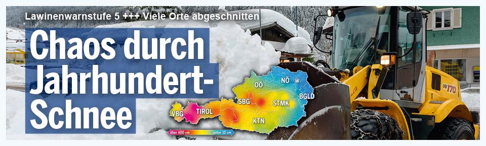 Chaos durch Jahrhundert-Schnee