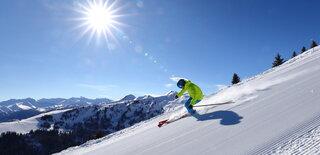 Skifahren Piste