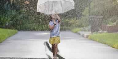 Sommer Gewitter Regen