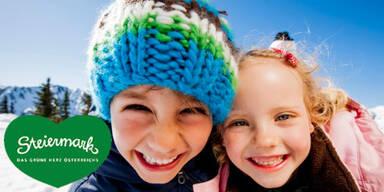 Stmk Tourismus - Kinder im Schnee mit Herz2