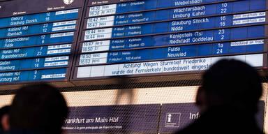 Sturm Friederike Bahnhof Frankfurt