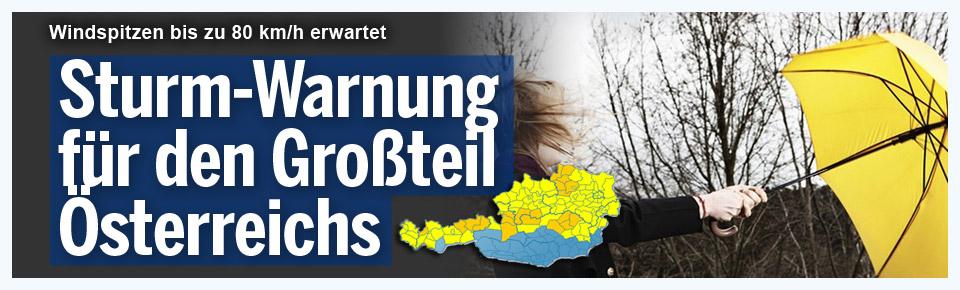 Sturm-Warnung für Österreich