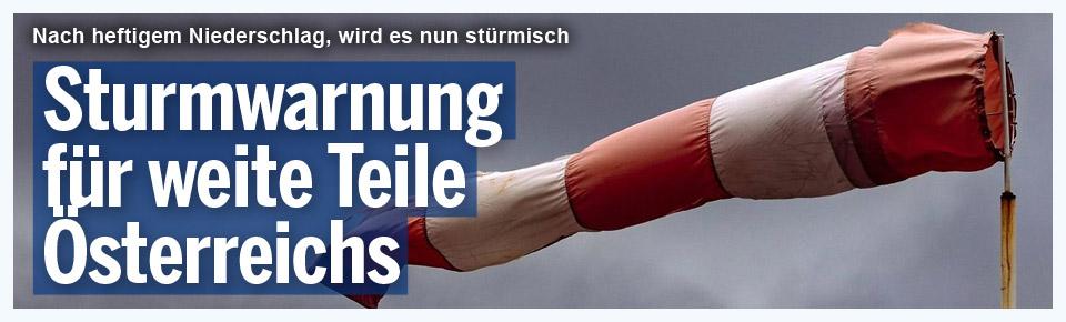 Sturmwarnung für Teile Österreichs