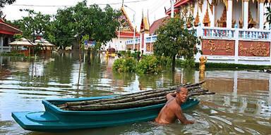 Thailand Hochwasser Überschwemmung