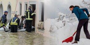 Österreich versinkt im Wetter-Chaos