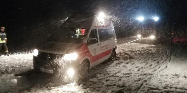 Rettunsgauto schnee
