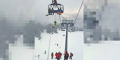 Nassfeld Lift Unfall Bergung