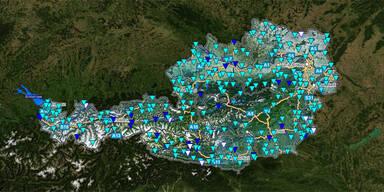 Wasserstände Österreich