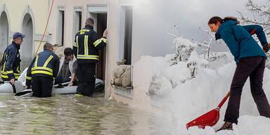 Hochwasser & Schnee