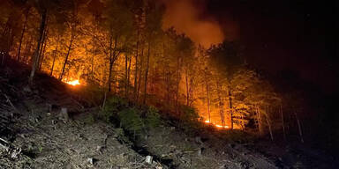Waldbrand Eisenkappel-Vellach