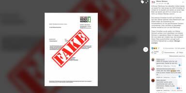 Fake Brief Wiener Wohnen
