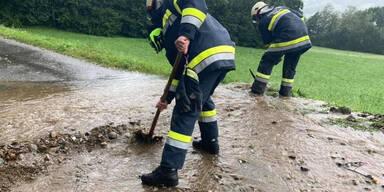 Gmünd Feuerwehr Unwetter