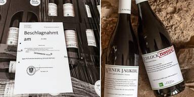 """Razzia bei Wiener Weingut wegen """"Schluck Impfung"""""""