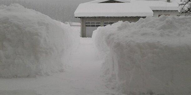 Schnee-Alarm: Es kommen wieder zwei Meter dazu