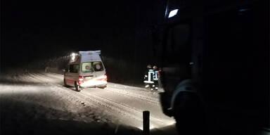 Rettungsauto Schnee