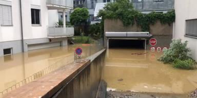 Hochwasser Überflutungen Wieselburg
