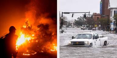 Waldbrände Überschwemmungen USA