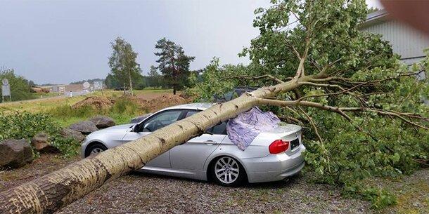Schwere Unwetter-Schäden in Salzburg und NÖ