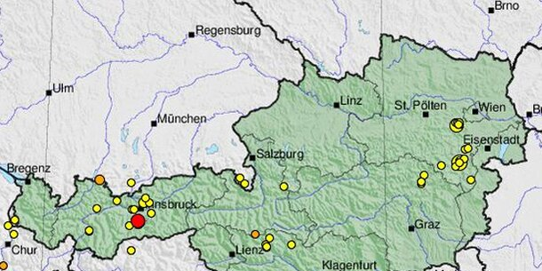 Leichtes Erdbeben in Tirol