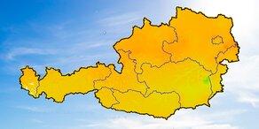 Ozon-Wert in Österreich überschritten
