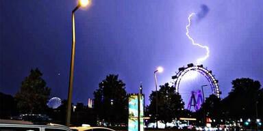 Gewitter Wien Blitz Unwetter
