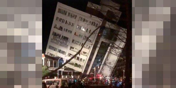 Beben in Taiwan: Hotel eingestürzt