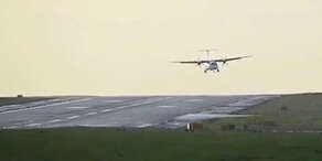Windböen sorgen für Horror-Landung