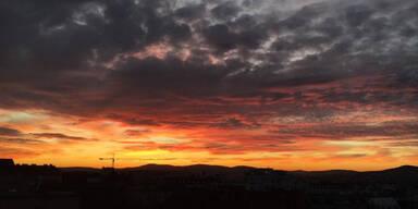 Sonnenuntergang Wien