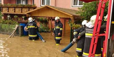 Unwetter Überflutungen St. Paul