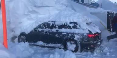 Pkw Schnee Zürs