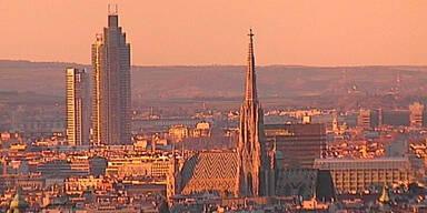 So schön brannte der Himmel über Wien