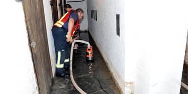 Unwetter Überschwemmungen Niederösterreich Leopoldsdorf