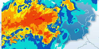Hochwasser-Alarm: Hier regnet es heute am meisten