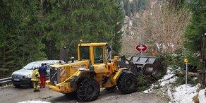 Orkan: Baum stürzt auf Auto