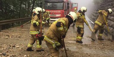 Unwetter Hagel Salzburg Feuerwehr
