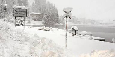 Wintereinbruch in Österreich: Zauchensee