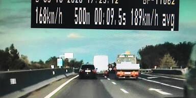 Drogen-Lenker im Burgenland mit 209 km/h gestoppt