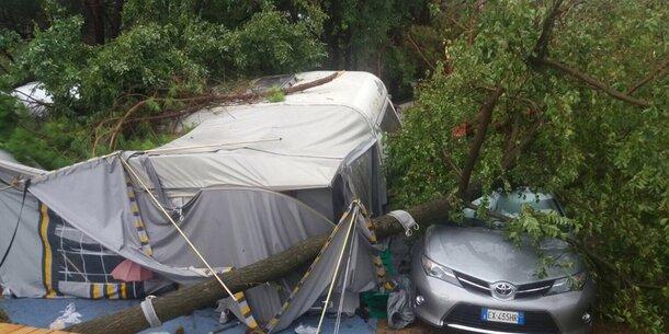 Schwere Unwetter verwüsten Jesolo, Caorle & Lignano