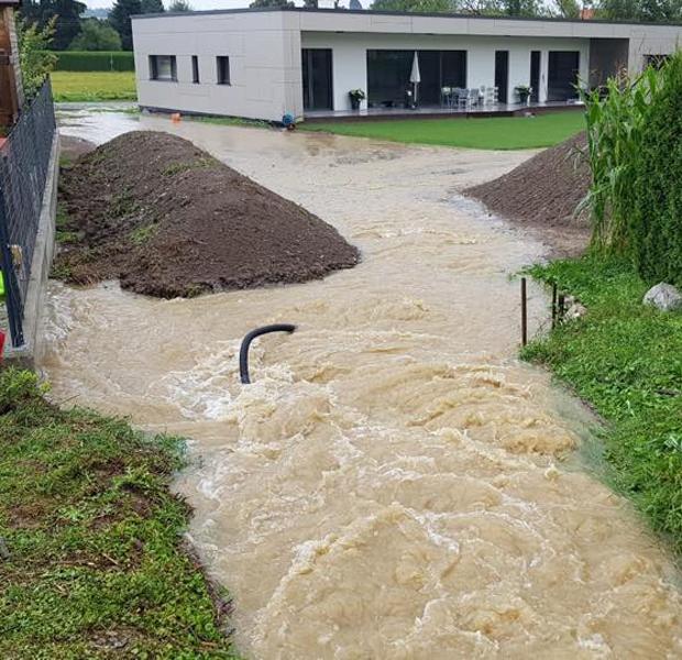 Schwere Unwetter sorgen für Überflutungen in Rassach
