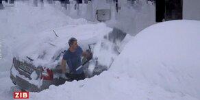 Video zeigt Schneechaos in den Alpen