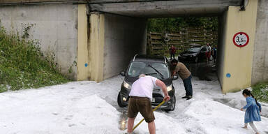 Schwere Unwetter gingen über Salzburg nieder