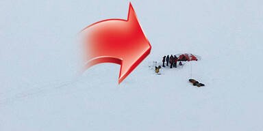 Pitztal am Taschachferner Bergsteiger erstickt