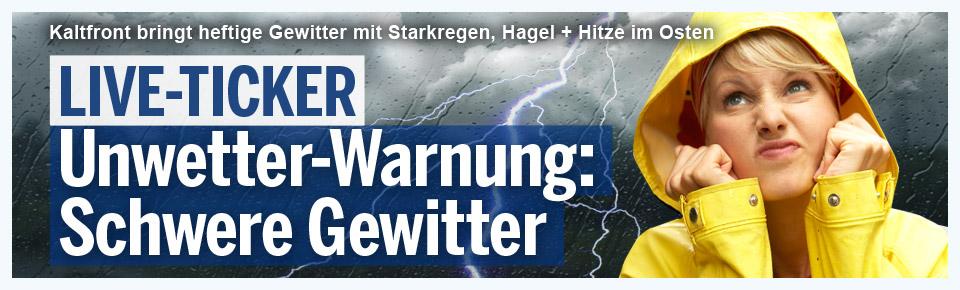 Unwetter-Warnung: Heftige Gewitter im Anmarsch