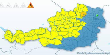 Gewitter haben Österreich fest im Griff