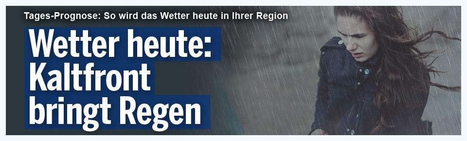 Wetter heute: Kaltfront bringt Regen