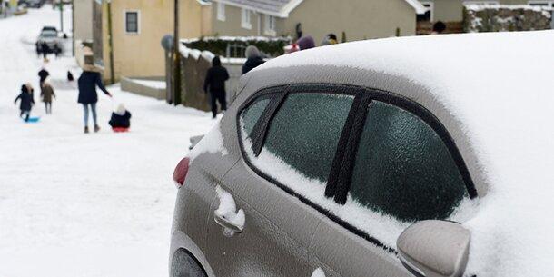 Winterchaos in Großbritannien und Irland