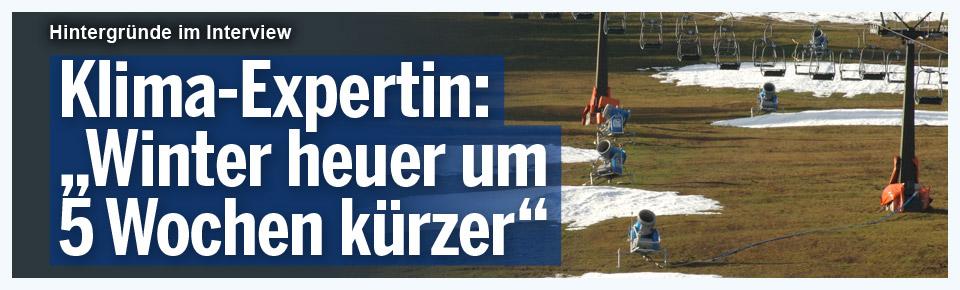 """Klima-Expertin: """"Winter heuer um 5 Wochen kürzer"""""""