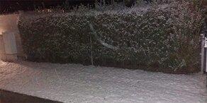 Hier liegt jetzt schon Schnee
